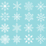 Собрания силуэта снежинок Стоковое Фото