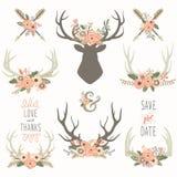 Собрания Antlers цветка бесплатная иллюстрация