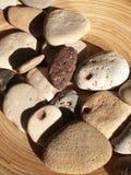 Собранные камни различных текстур и цветов, стоковые изображения