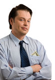 собственная личность бизнесмена красивая удовлетворенная Стоковые Фотографии RF