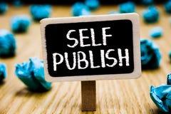 Собственная личность текста почерка опубликовывает Смысл концепции опубликовал работу независимо и на собственном авторе расхода  стоковые изображения