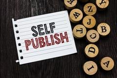 Собственная личность текста сочинительства слова опубликовывает Концепция дела для опубликованной работы независимо и на собствен стоковые фото
