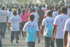 Событие бега Хайдарабада 10K, Индия Стоковая Фотография