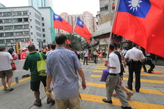 Событие 2015 в марше Гонконга 26th годовщины протестов площади Тиананмен 1989 Стоковое Изображение RF