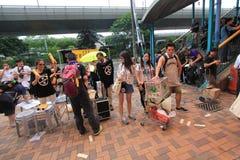 Событие 2015 в марше Гонконга 26th годовщины протестов площади Тиананмен 1989 Стоковые Фотографии RF