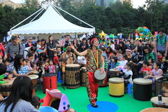 Событие искусств в марди Гра парка в Гонконге Стоковые Изображения