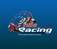 Событие логотипа гонок Nite Стоковое фото RF