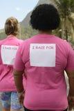 Событие осведомленности рака молочной железы стоковые фотографии rf