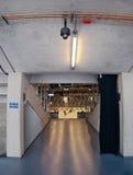 СОБЫТИЕ ОТКРЫТОГО ДОСТУПА! Chomutov, kraj Ustecky, чехия - 7-ое января 2017: один из входов к трибуне нового multipurp Стоковые Фотографии RF
