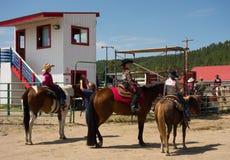 Событие лошади для детей на Pagosa Springs Стоковая Фотография