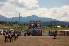 Событие лошади для детей на Pagosa Springs Стоковая Фотография RF
