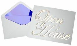 Событие партии приглашения дома открытого дома для продажи Стоковые Фотографии RF