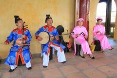 Событие представления музыки Вьетнама традиционное Стоковые Изображения RF