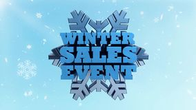 Событие продаж зимы - выдвиженческий выходить на рынок и рекламировать - сезонное