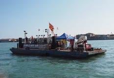Событие протеста в Венеции Стоковая Фотография RF