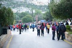Событие пумы бежит озеро - Афины, Греция Стоковое Изображение RF