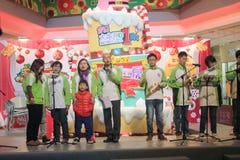 Событие Рожденственской ночи caroling в моле Гонконге домена Стоковое Изображение