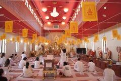 Событие торжества Нового Года в виске Wat Mongkolratanaram тайском стоковое изображение