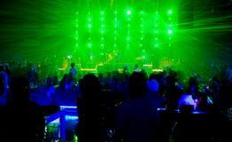 Событие фестиваля концерта и лазер стоковые изображения