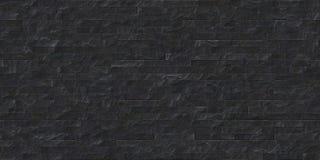 Совершенная безшовная черная текстура каменного masonry шифера Стоковое Фото