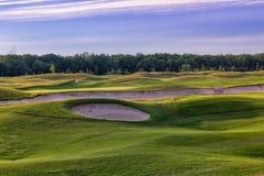 Совершенная волнистая трава на поле гольфа Стоковое фото RF