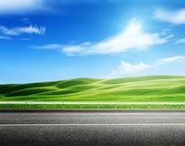 Совершенное зеленое поле стоковые фото