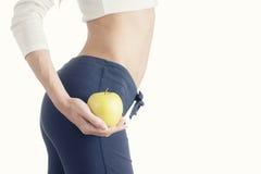 Совершенное тонкое тело женщины диетпитание принципиальной схемы Стоковая Фотография RF