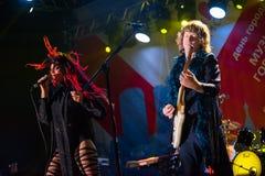 Совершенно новая группа Heavies выполняет на джазовом фестивале Usadba стоковое фото rf