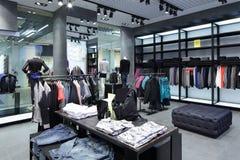Совершенно новый интерьер магазина ткани Стоковое Изображение