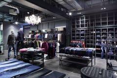 Совершенно новый интерьер магазина ткани Стоковое Изображение RF