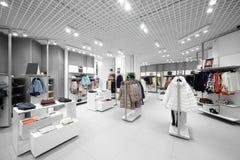 Совершенно новый интерьер магазина ткани Стоковые Изображения