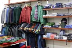 Совершенно новый интерьер магазина ткани Стоковая Фотография