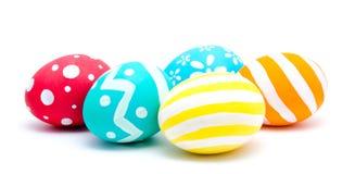 Совершенные красочные handmade изолированные пасхальные яйца стоковая фотография rf