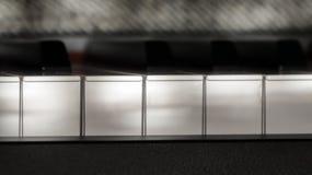 Совершенные ключи рояля в слабом цвете солнечного света Стоковые Изображения RF