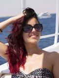Совершенные назначения летнего отпуска на море для женщин стоковые фото