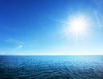 Совершенные небо и океан Стоковые Изображения