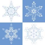 совершенные снежинки Стоковые Изображения