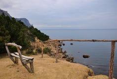 Совершенный взгляд на стенде около моря Стоковые Изображения RF