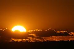 совершенный заход солнца Стоковые Изображения