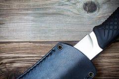 Совершенный нож на палубе Стоковое Фото