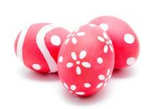 3 совершенных красочных handmade пасхального яйца Стоковое Фото