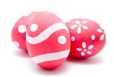 3 совершенных красочных handmade пасхального яйца Стоковое Изображение