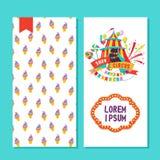 Совершители цирка 2 дизайна сторон плаката, рогульки или приглашения иллюстрация штока