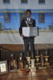 Совершитель верхней части Guillieano Prinsloo в ранге 12 на средней школе Uitenhage стоковые изображения