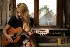 совершитель гитары Стоковое Изображение