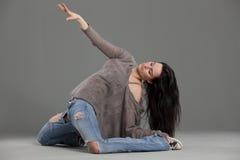 совершитель танцульки стоковое изображение rf