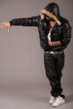 Совершитель rap чёрного африканца Стоковое Изображение