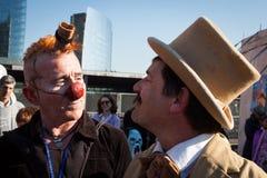 Совершители на фестивале 2014 клоуна милана Стоковые Изображения