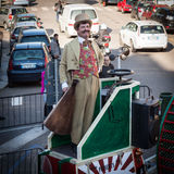 Совершитель на фестивале 2014 клоуна милана Стоковые Фотографии RF