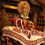 Совершитель Kathakali в добродетельной роли зеленого цвета pachcha в Cochin Стоковые Фотографии RF